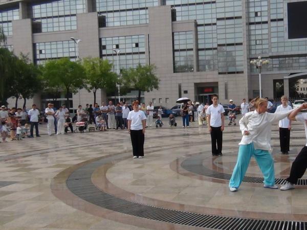 俄罗斯学员表演中国武术段位制八极拳对练_缩小大小