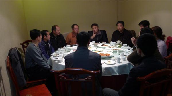 尚派形意拳传人李宏与西安弟子及西安武术界同仁交流.
