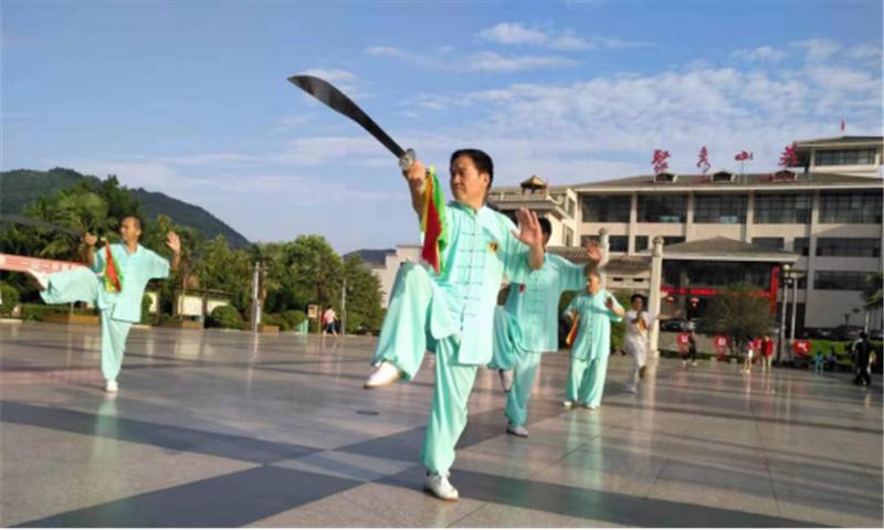 商洛市武术协会第十一个全民健身日报道 (文图(1)782