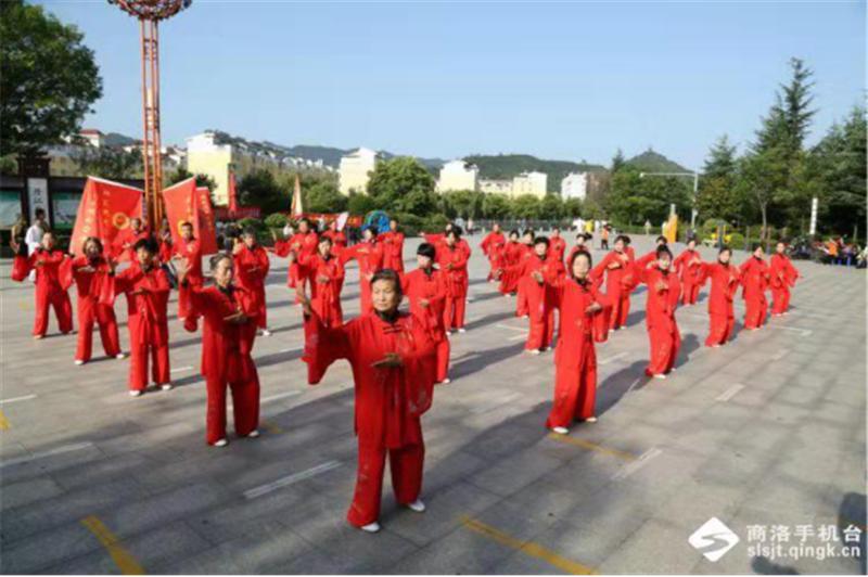 商洛市武术协会第十一个全民健身日报道 (文图(1)751