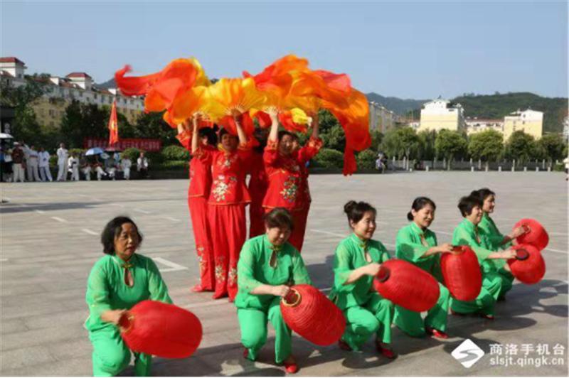 商洛市武术协会第十一个全民健身日报道 (文图(1)770