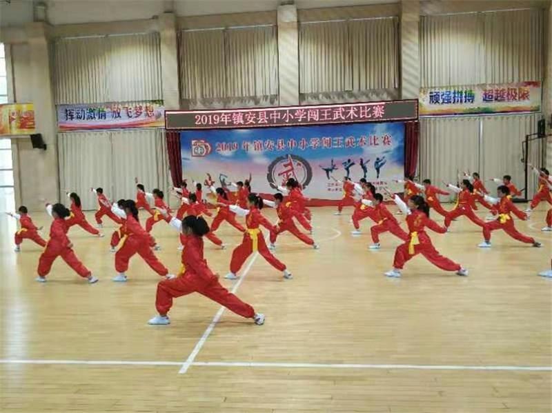 商洛武协开展武术展演活动喜迎国庆