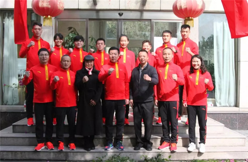国家武术散打队离开西安出征第十五届世锦赛